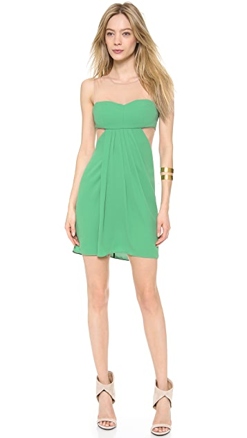 BCBGMAXAZRIA Gathered Front Dress