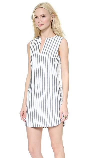 BCBGMAXAZRIA Yosura Vertical Stripes Dress