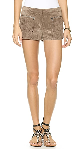 BCBGMAXAZRIA Weston Fringe Shorts