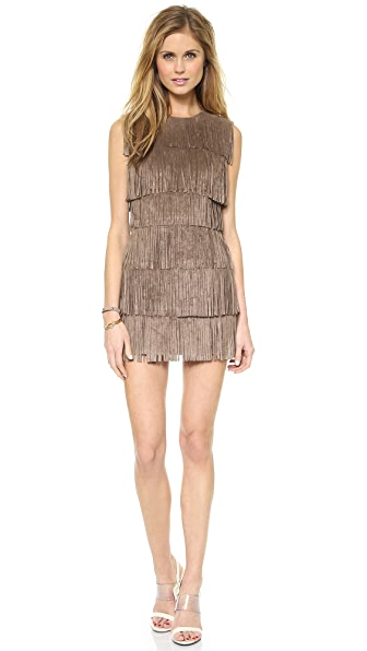 BCBGMAXAZRIA Laylee Fringe Dress
