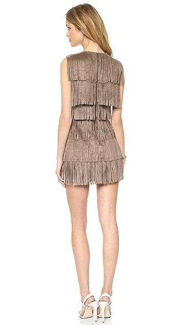 BCBGMAXAZRIA Laylee Fringe Dress