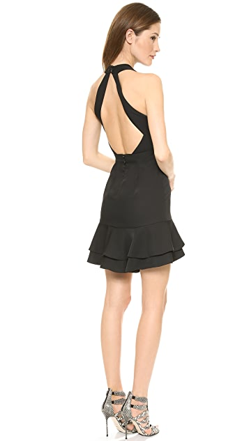 BCBGMAXAZRIA Cutout Halter Dress