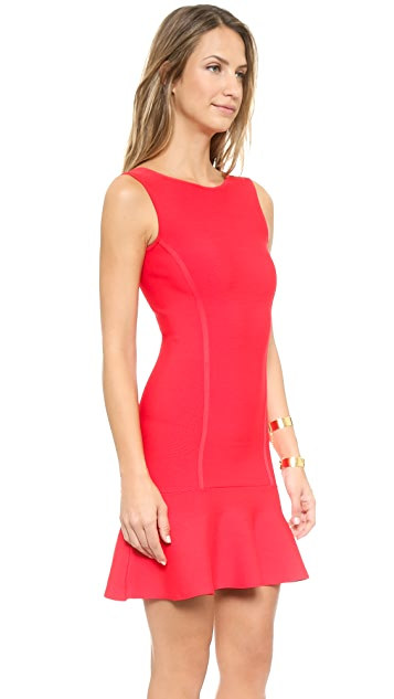 BCBGMAXAZRIA Padma Low Back Ruffle Dress