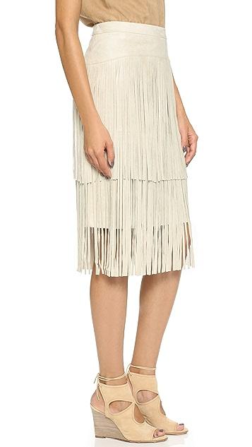 BCBGMAXAZRIA Rashell Fringe Skirt