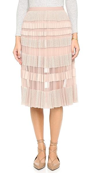 BCBGMAXAZRIA Taura Pleated Skirt