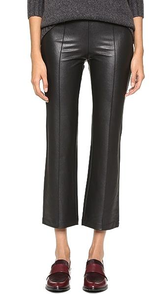 BCBGMAXAZRIA Faux Leather Cropped Pants