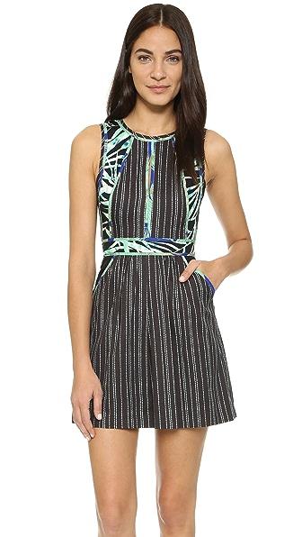 BCBGMAXAZRIA Cristalle Combo Dress