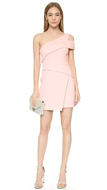BCBGMAXAZRIA One Shoulder Mini Dress