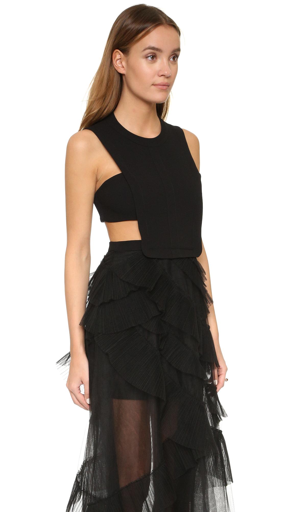 BCBGMAXAZRIA Tulle Cutout Gown   SHOPBOP