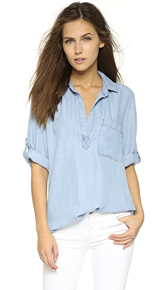 Bella Dahl Summer Chambray Blouse