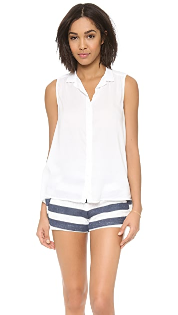 Bella Dahl Sleeveless Tulip Back Shirt