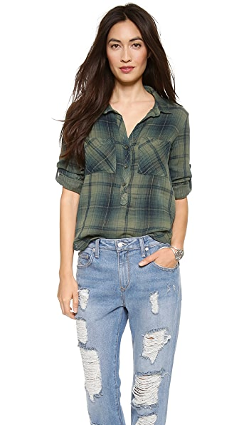 Bella Dahl Long Sleeve Pullover Placket Shirt
