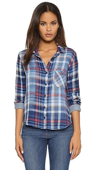 Bella dahl pocket plaid button down shopbop for Bella dahl plaid shirt