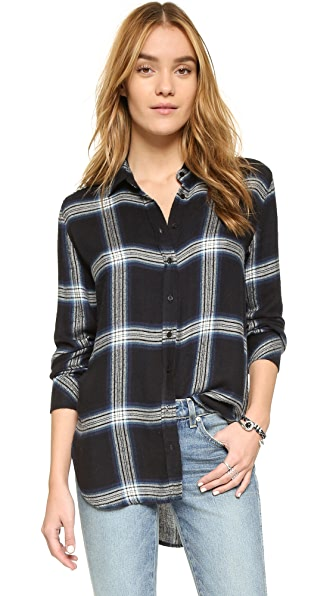 Bella Dahl Halle Plaid Button Down Shirt