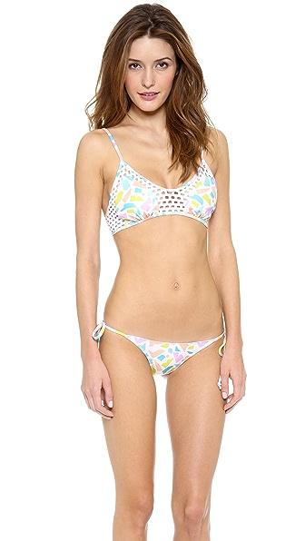 Beach Riot Basel Blanco Bikini Top
