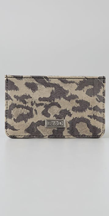 BE & D Leopard Studded Card Case