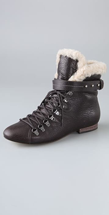 BE & D Wales Lace Up Booties