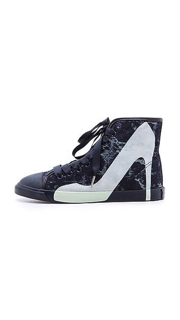 BE & D Maison Dumain Denim Sneakers