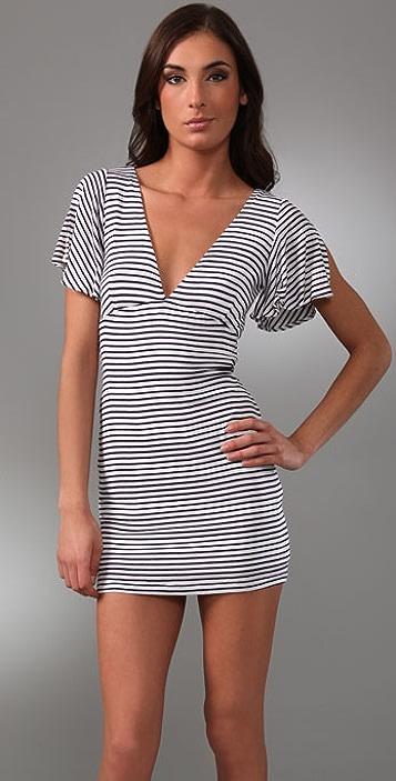 Bec & Bridge Escape V Neck Striped Dress