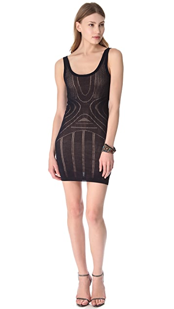 Bec & Bridge Pointelle Mini Dress