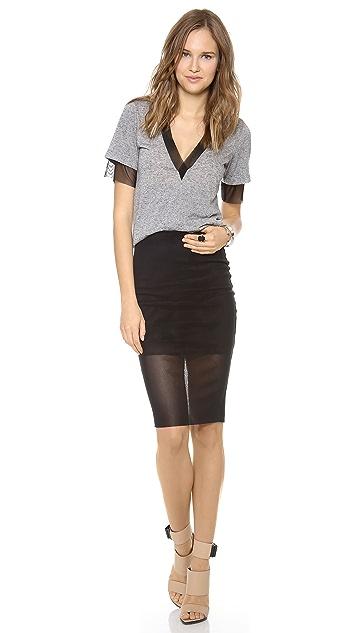 Bec & Bridge Kathy Mesh Pencil Skirt