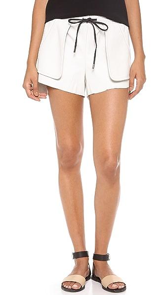 Bec & Bridge Babylon Leather Shorts