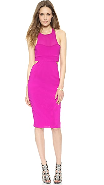 Bec & Bridge Platinum Plate Mesh Dress