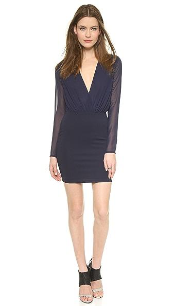 Bec & Bridge Deep V Mini Dress