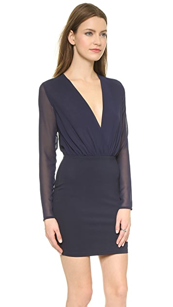 Bec & Bridge Deep V Mini Dress