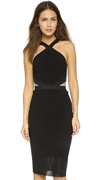 Bec & Bridge Parallel Halter Dress - Black