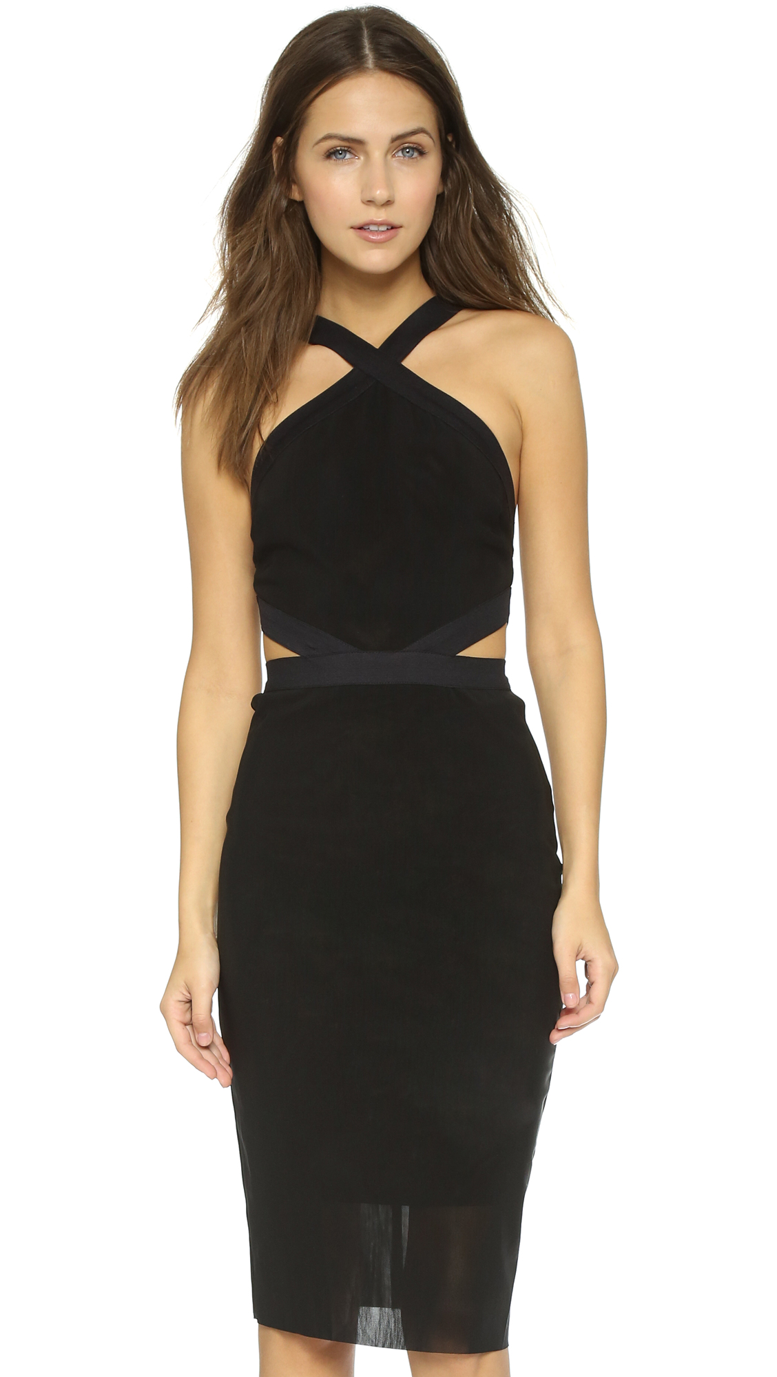 Bec & Bridge Parallel Halter Dress - Black