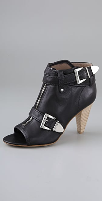 Belle by Sigerson Morrison Open Toe High Heel Booties