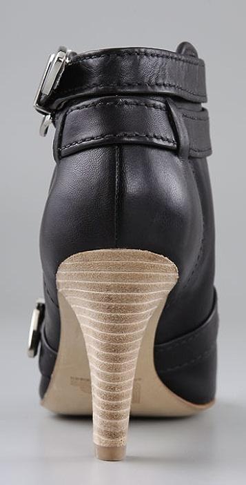 Belle by Sigerson Morrison Open Toe High Heel Booties
