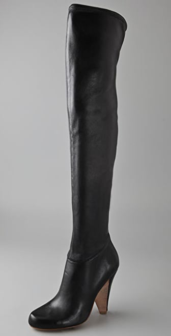 Belle by Sigerson Morrison Stretch Leather Over the Knee Boots
