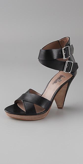 Belle by Sigerson Morrison Crisscross High Heel Sandals