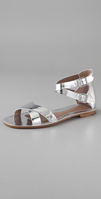 Belle by Sigerson Morrison Crisscross Flat Sandals
