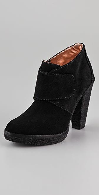 Belle by Sigerson Morrison Tab Suede Platform Booties