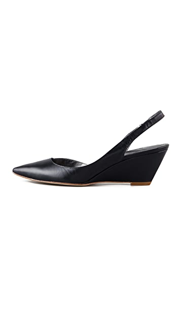 Belle by Sigerson Morrison Walter Low Wedge Sling Backs