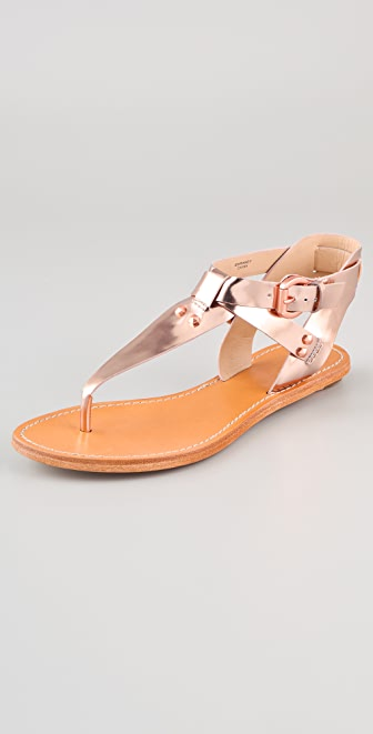 Belle by Sigerson Morrison Randy T Strap Flat Sandals