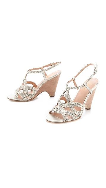 Belle by Sigerson Morrison Aspen Metallic Braided Sandals
