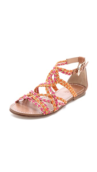 Belle by Sigerson Morrison Bobo Braided Flat Sandals