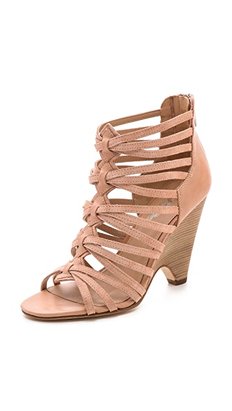 Belle by Sigerson Morrison Annie Suede Caged Sandals