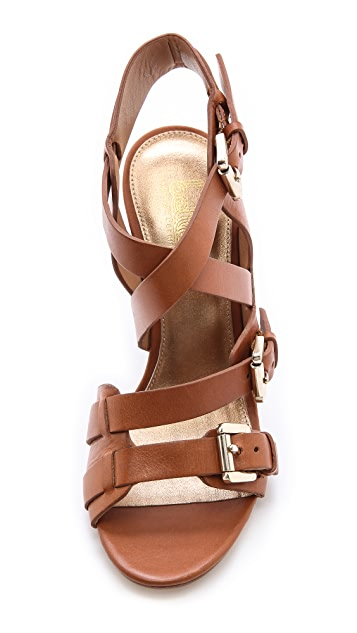 Belle by Sigerson Morrison Beet Strappy Sandals