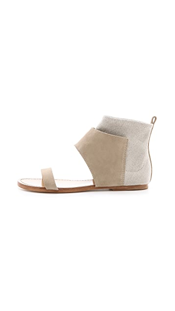 Belle by Sigerson Morrison Bristol Cuffed Flat Sandals
