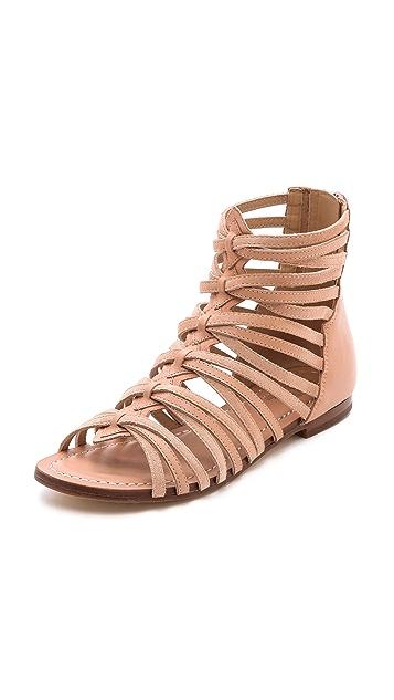 Belle by Sigerson Morrison Alpina Suede Gladiator Sandals
