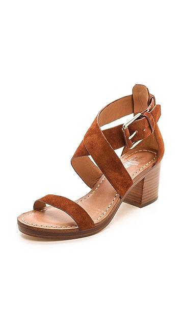 Belle by Sigerson Morrison Afton Cross Strap Suede Sandals