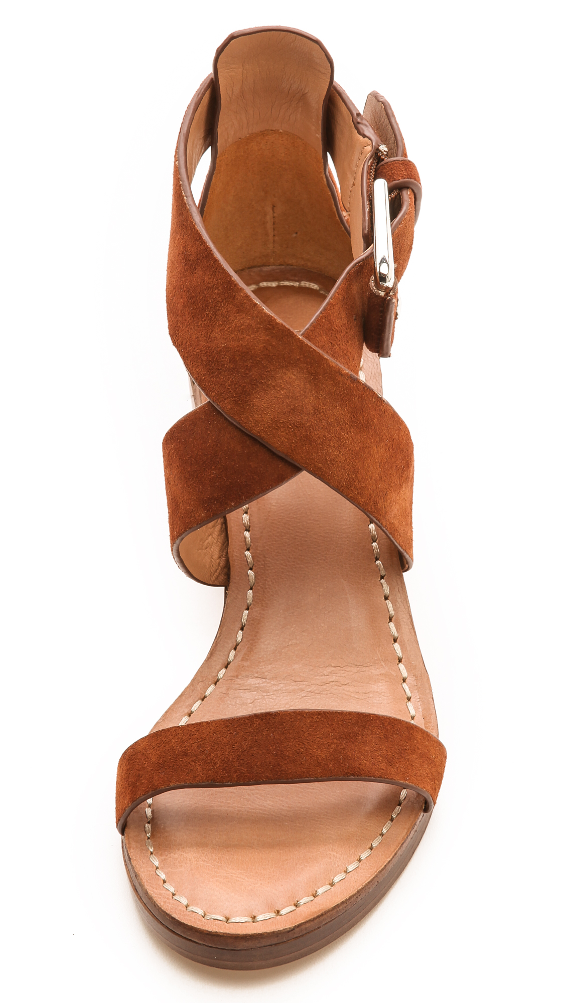 6158ebaa5fe Belle by Sigerson Morrison Afton Cross Strap Suede Sandals | SHOPBOP