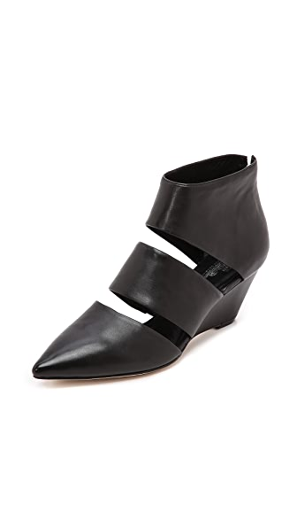 Belle by Sigerson Morrison Wagner Cutout Wedge Booties