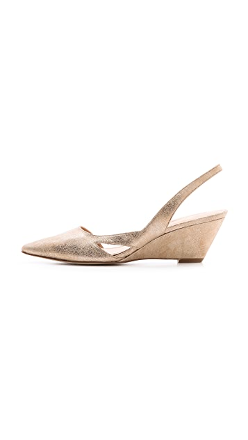 Belle by Sigerson Morrison Wanda Slingback Wedge Pumps