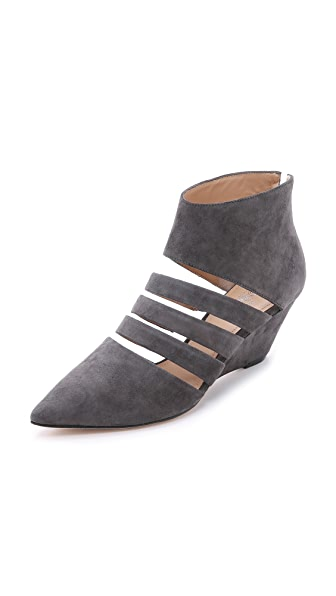 Belle By Sigerson Morrison Wilma Suede Wedges - Grey